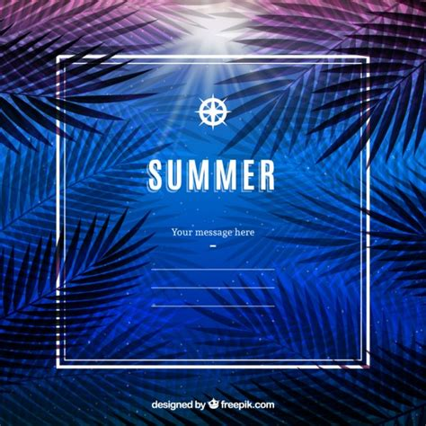 summer templates summer vegetation template vector free