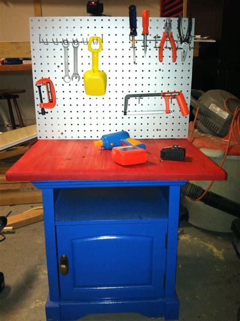 small tool bench tool bench made from a small nightstand tried it