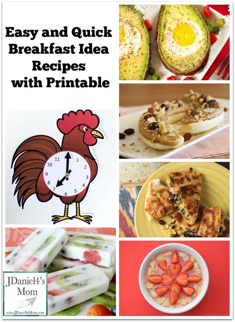 printable healthy breakfast recipes easy and quick breakfast idea recipes with printable