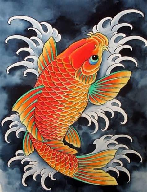 koi fish drawing color beautiful orange koi fish color design drawings