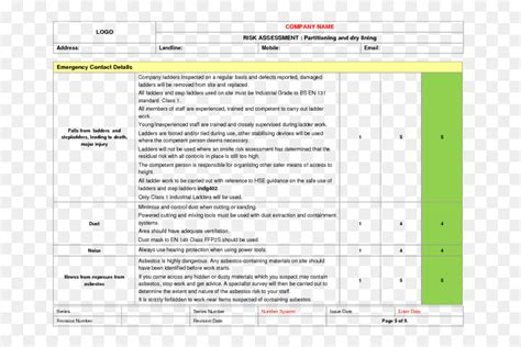 step ladder risk assessment template best step ladder risk essment template images gallery