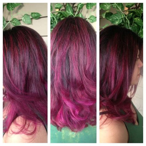 black hair to raspberry hair raspberry and caramel sundae hair color dark brown hairs
