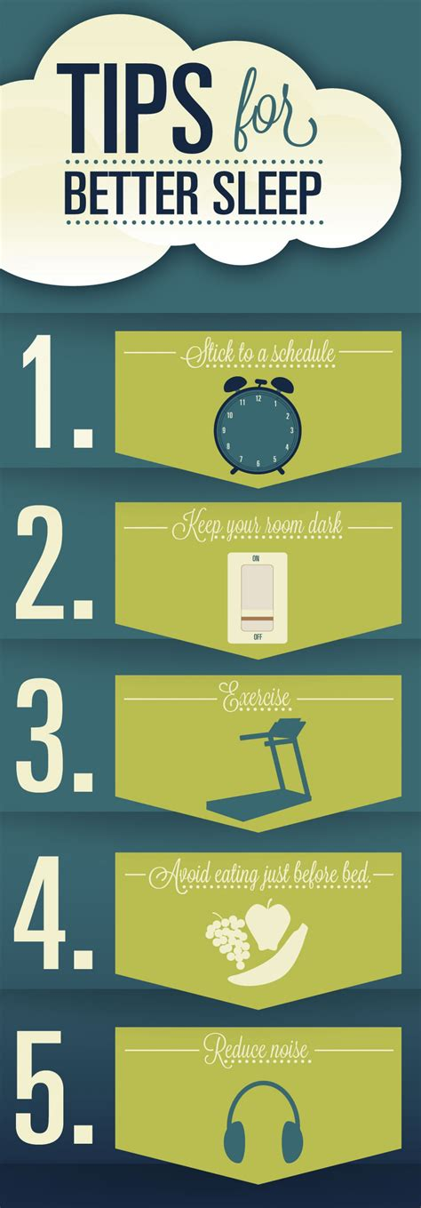 sleep better tips tips for better sleep visual ly