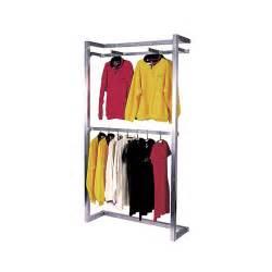 wall mounted retail clothing rack subastral