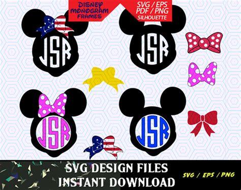 design files mickey and minnie disney monogram svg files t shirt design