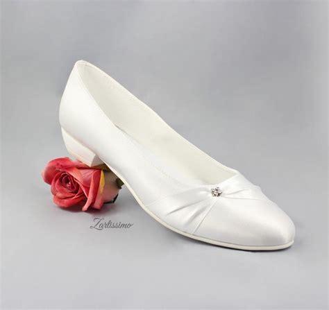 Bequeme Brautschuhe Ivory by Brautschuhe Ballerina Pumps Flach Hochzeit Bequemer Absatz