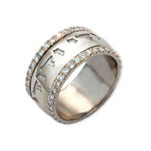comfort fit engraved ring two tone gold diamonds