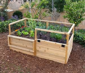 Raised Garden Fence Ideas 3 X 6 Raised Garden Bed With Hinged Fencing Eartheasy
