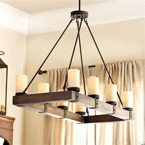Rectangular Wood Chandelier Arturo 8 Light Rectangular Chandelier Rustic Chandeliers By Ballard Designs