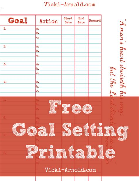 goal setting calendar template pinspired home make it happen 10 free printables to