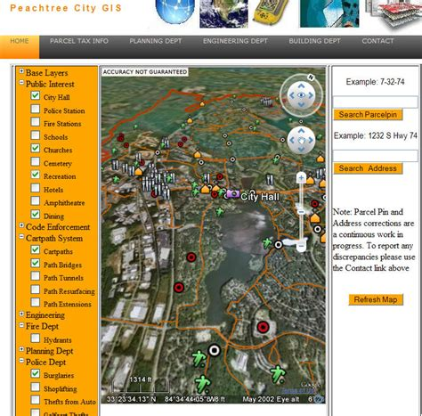 peachtree city public information interactive map google