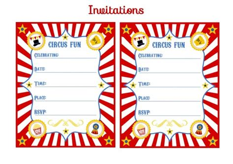 circus invitation template blank circus invitations templates free clipart best
