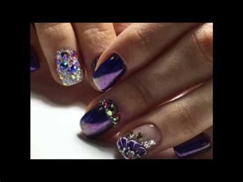 imagenes de uñas decoradas con rayas u 241 as decoradas con piedras 2017 nails youtube