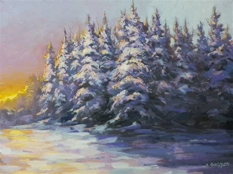 acrylic painting lesson ideas the colors of winter acrylic painting lesson tim