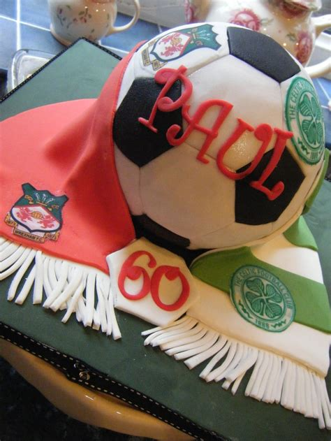 3D Football cake with featuring Wrexham FC and Celtic.   Cakes   Pinterest   Cake