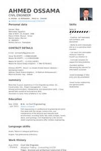 Civil Engineering Resume Sles by Exemple De Cv Professeur De Math 233 Matiques Ou De Physique