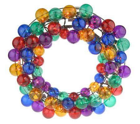 bethlehemlights 20 quot kringle ball wreath 100 mini twinkle