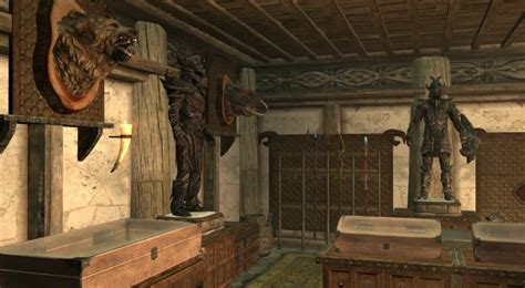 skyrim trophy room armory hearthfire elder scrolls fandom powered by wikia