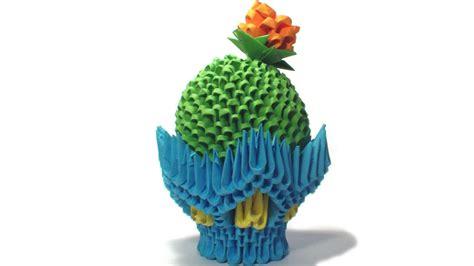 3d origami cactus tutorial 3d origami cactus by girnelis on deviantart