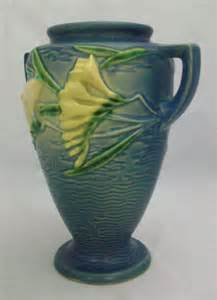 Value Of Roseville Pottery Vases by Roseville Freesia Vase 121 8 For Sale Antiques