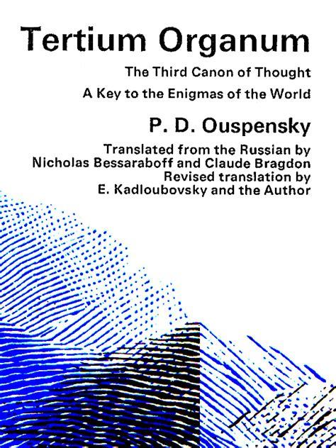 tertium organum books p d ouspensky ouspensky today