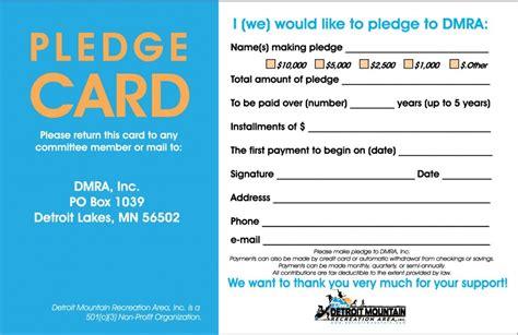 stewardship pledge card template sle stewardship pledge cards