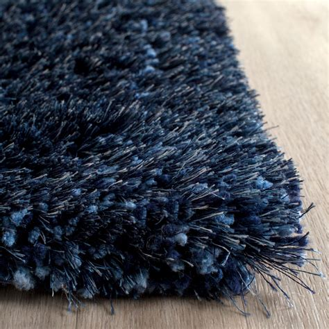 shag rug plush navy blue shag toronto collection safavieh com