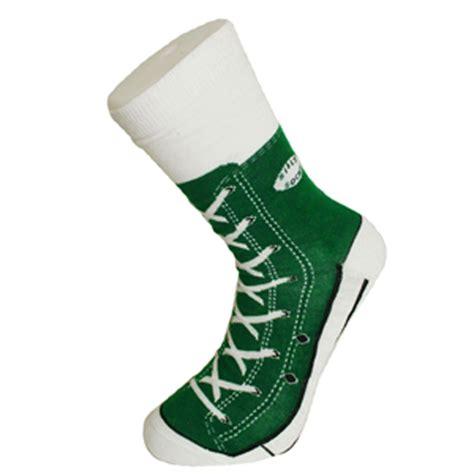 sneaker socks silly socks s novelty green sneaker socks from ties