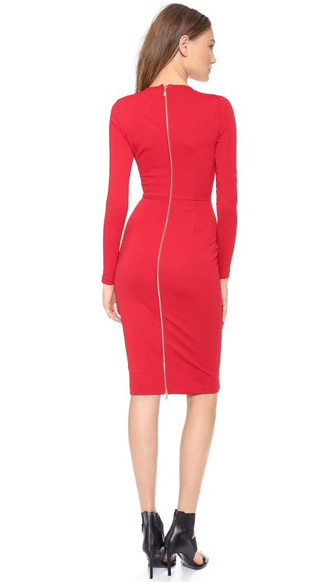 20808 Back Zipper Dress dress 5th mercer 5th and mercer 5th mercer sleeve dress bodycon dress