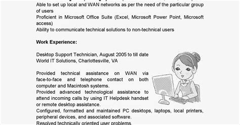 Desktop Support Technician Resume by Resume Sles Desktop Support Technician Resume Sle