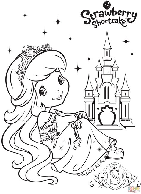 strawberry shortcake coloring page strawberry shortcake and strawberry castle coloring page