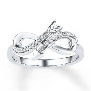Infinity Ring With Diamonds Sterlingjewelers Infinity Arrow Ring 1 20 Ct Tw