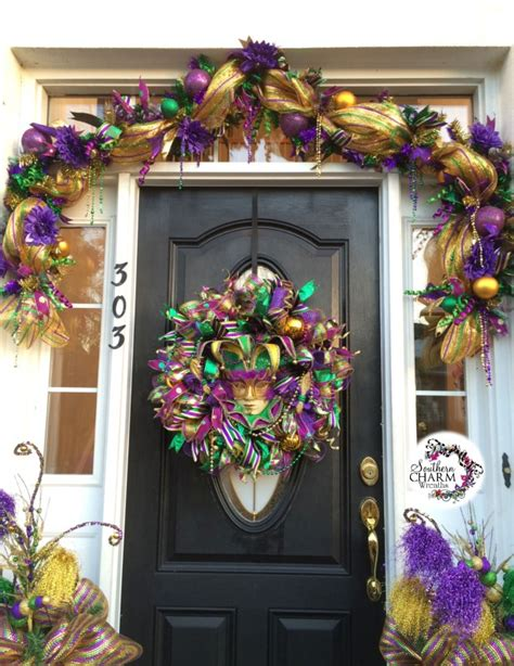 How To Make Mardi Gras Decorations by Decorate Your Door For Mardi Gras