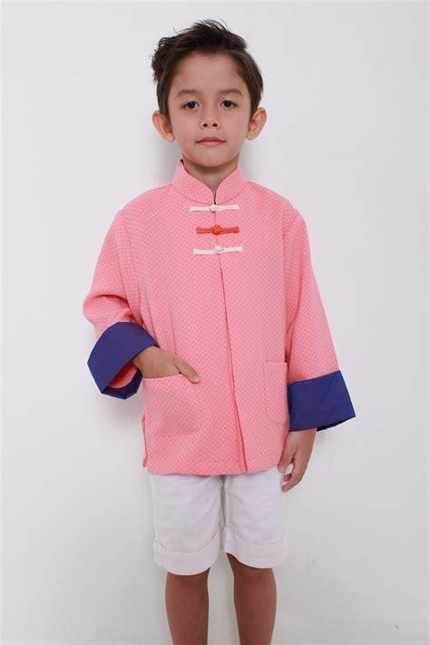 Lq 12 Blouse kungfu boy tang shirt salmon col