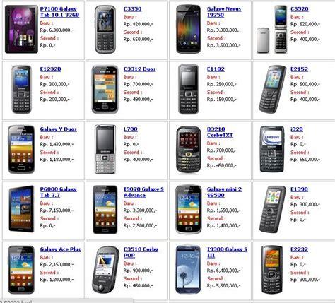 Samsung Tipe Terbaru daftar harga hp samsung galaxy
