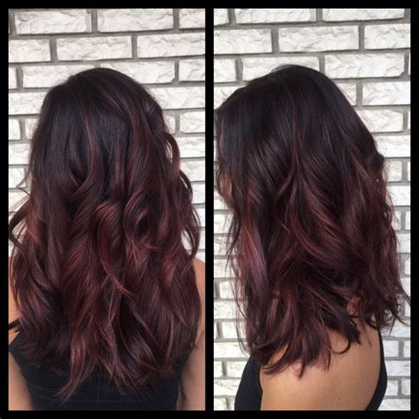auburn with ombre highlights balayage auburn brown