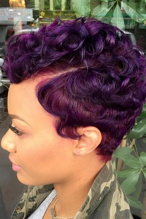 short colored hairstyles  black women