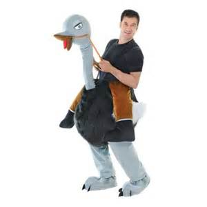 Fancy dress step in cool ostrich costume with reins ac336