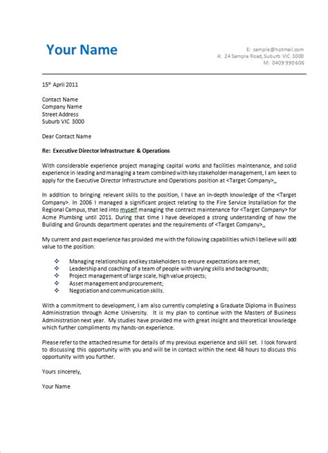 Cover Letter Layout by Cover Letter Format Creating An Executive Cover Letter Sles