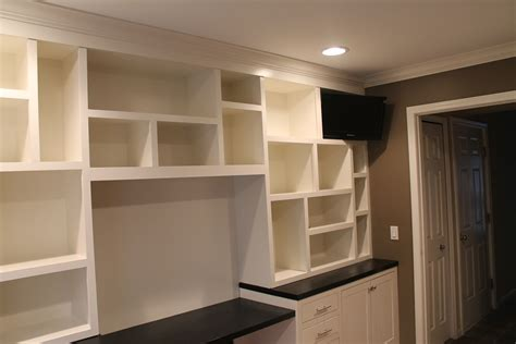 built with custom built in office cabinets landmark contractors