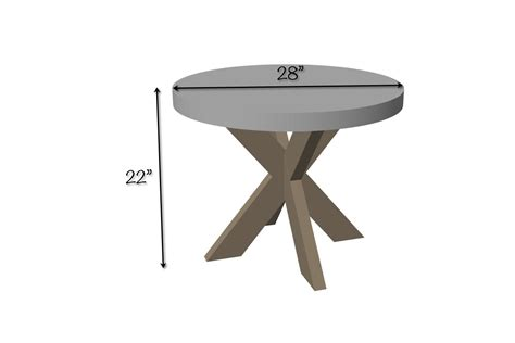 X Side Table Diy X Brace Side Table W Concrete Top Free Easy Plans