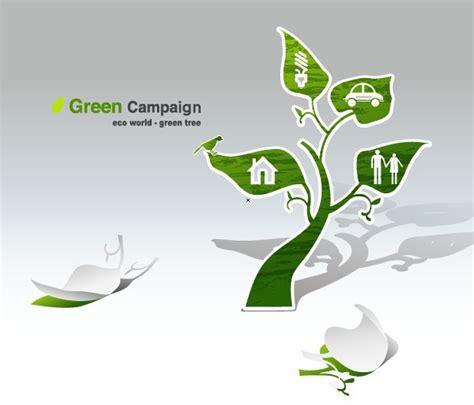Free Green Eco World Caign Green Tree Vector Titanui Green Eco Tree Vector Free