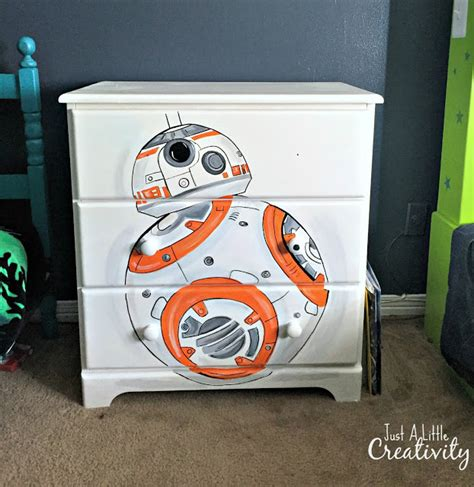 star wars bedroom furniture just a little creativity star wars bb8 hand painted