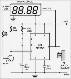 auto snooze for digital alarm clocks electronic circuits diagram