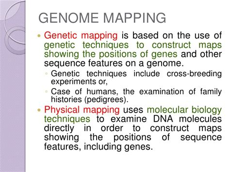 genome mapping genome mapping