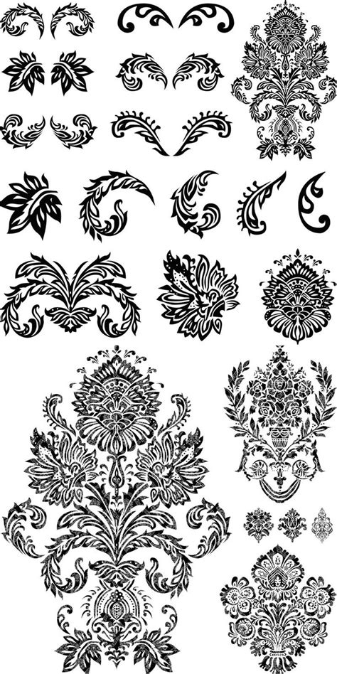 Ornate Flourish Embellishments Vector Stencils Pinterest Flourish Stenciling And Ornament Ornament Stencil Template