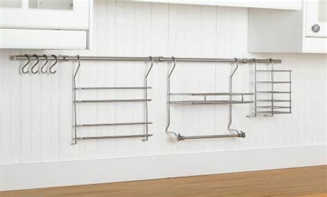 Closetmaid Rail Closetmaid 3059 Kitchen Organizer Rail System Chrome
