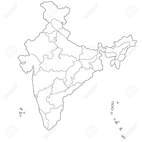 Photo Of Outline Map Of India by Clipart Maps Of India Clipground