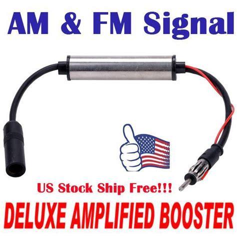 pcs deluxe inline car antenna radio amfm signal amp amplifier booster sbz ebay