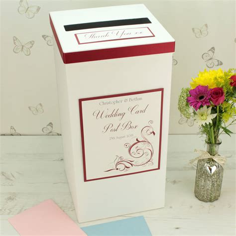 wedding box oxford personalised oxford wedding post box by dreams to reality